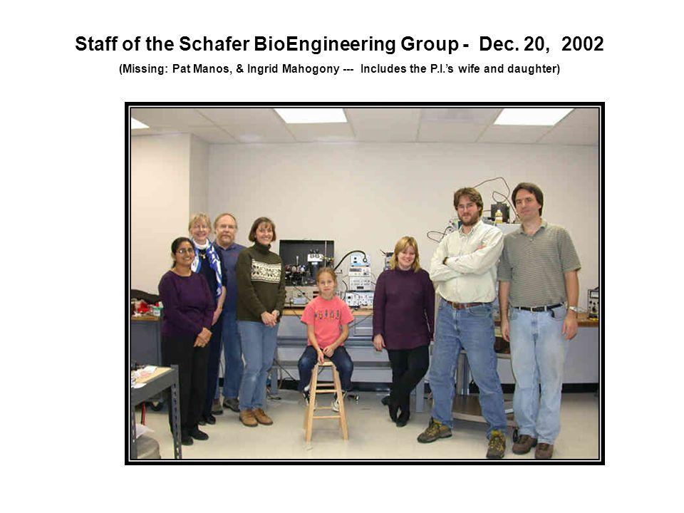 Staff of the Schafer BioEngineering Group - Dec.
