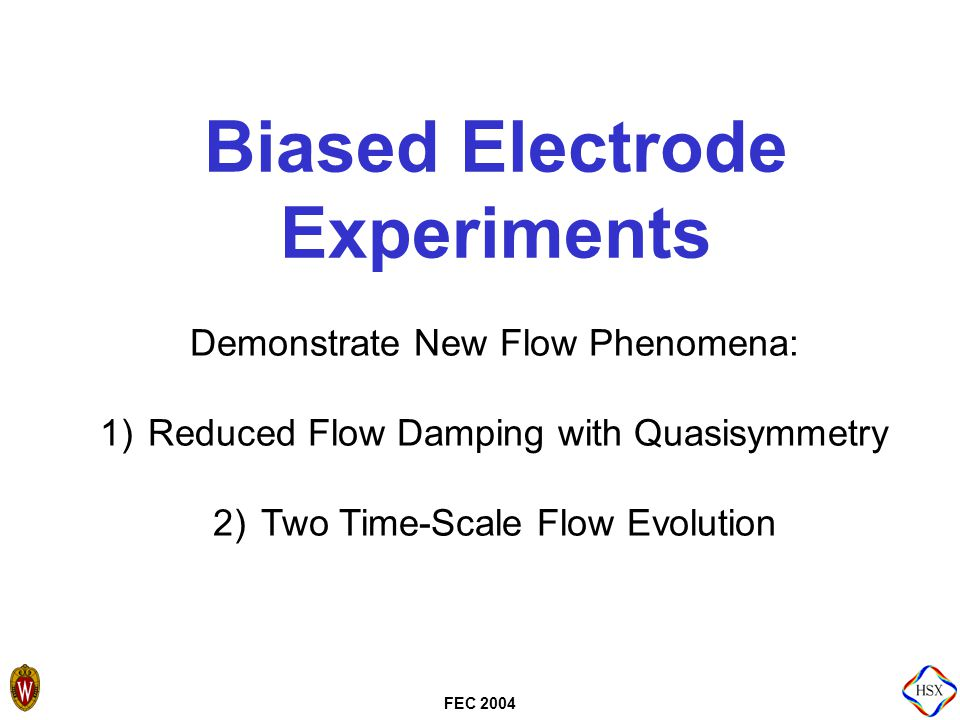 FEC 2004 Mach Probes Used to Measure Time- Dependent Plasma Flows  6 tip mach probes measure plasma flow speed and direction on a magnetic surface.