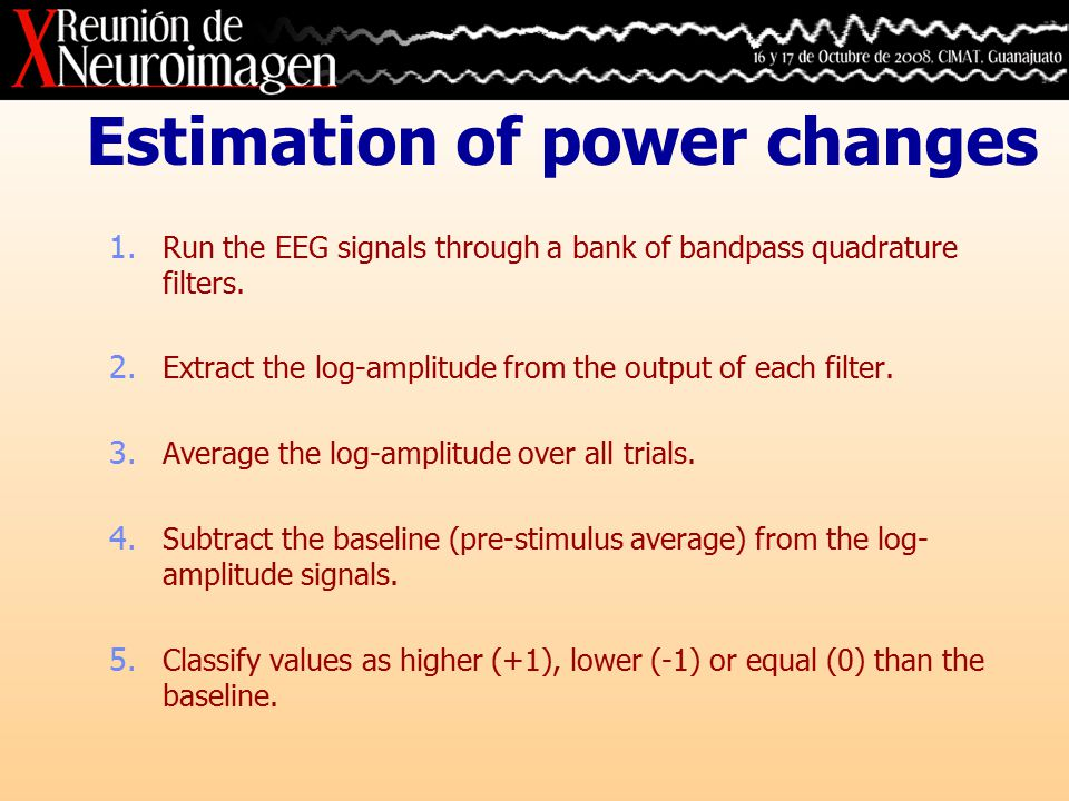 Estimation of synchrony changes 1.
