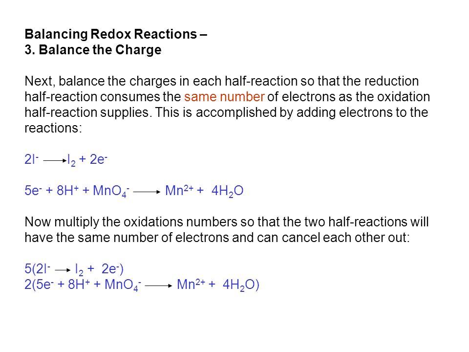 Balancing Redox Reactions – 3.