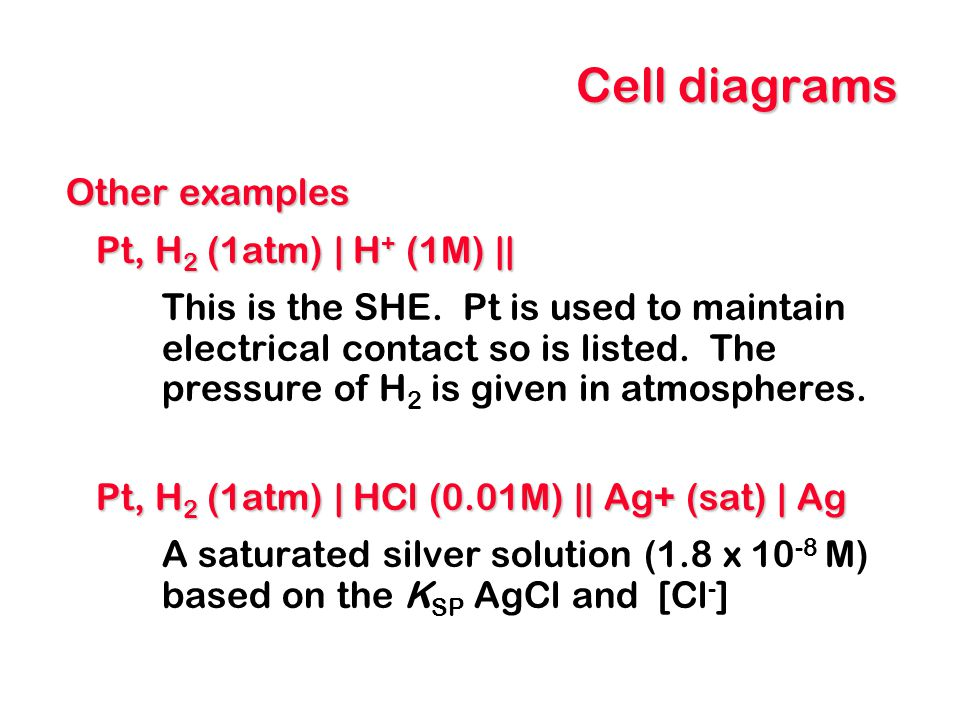 Electrode potentials A measure of how willing a species is to gain or lose electrons.