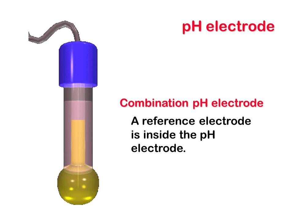 pH electrode Combination pH electrode A reference electrode is inside the pH electrode.