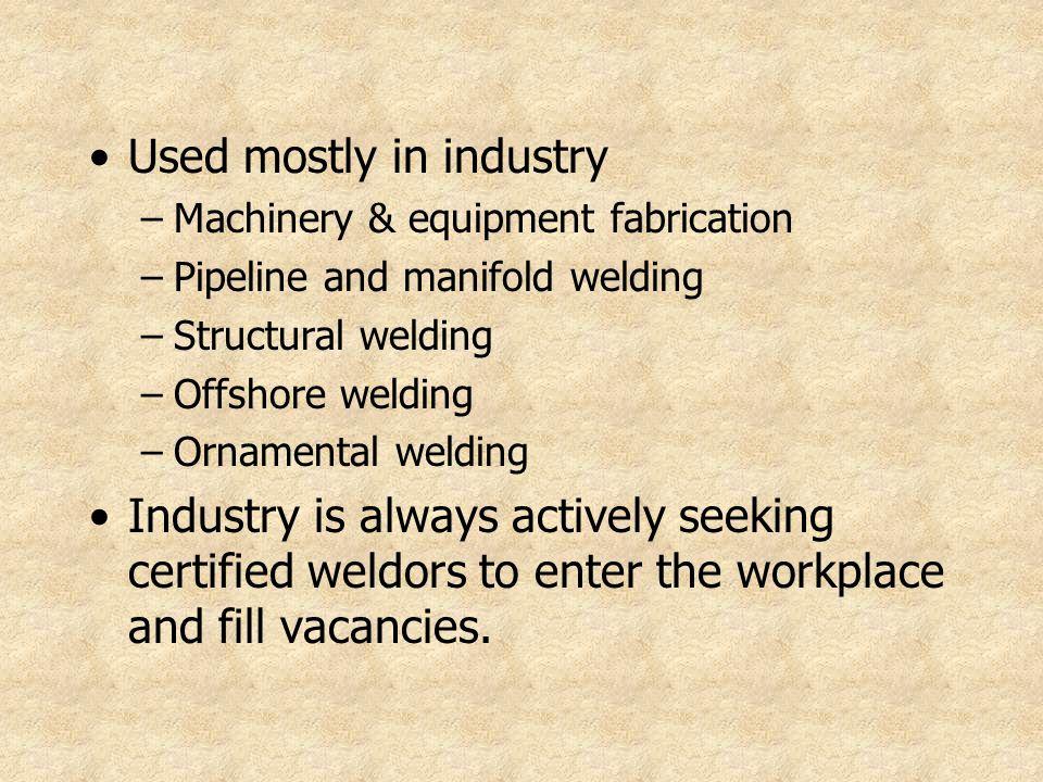 A welder needs preventive maintenance.
