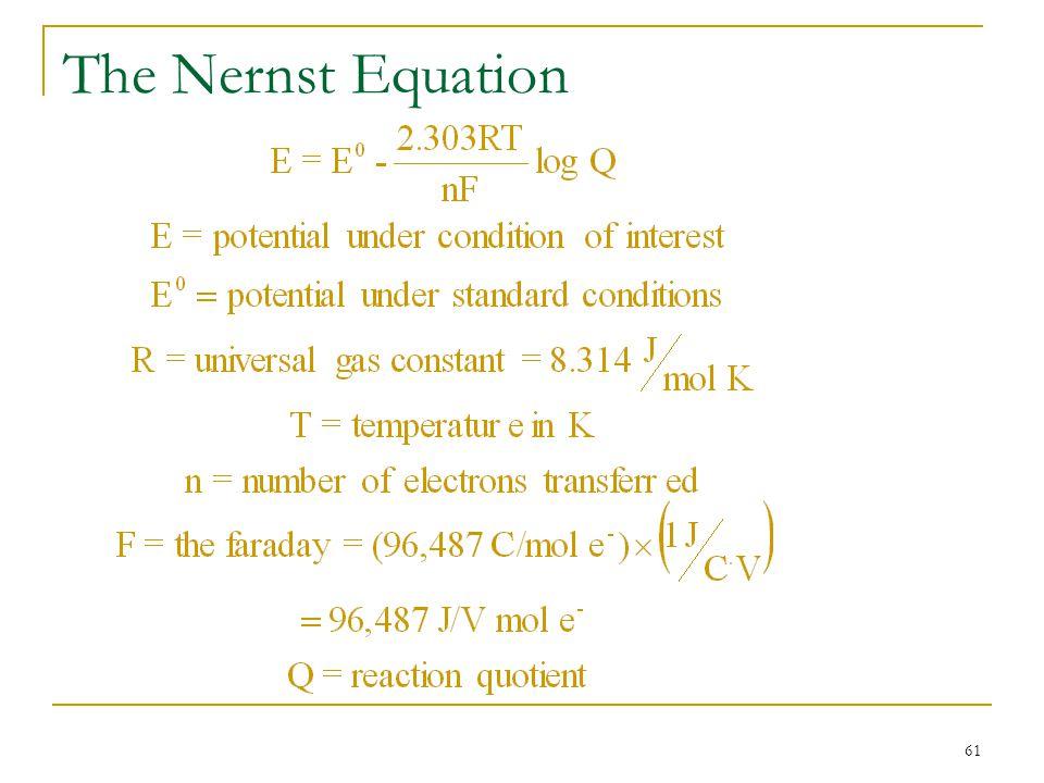 61 The Nernst Equation