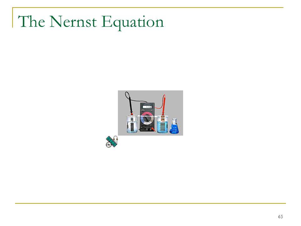 65 The Nernst Equation