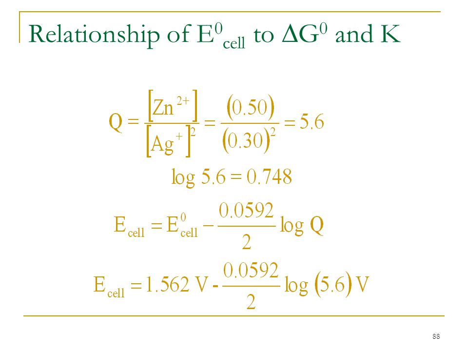 88 Relationship of E 0 cell to  G 0 and K