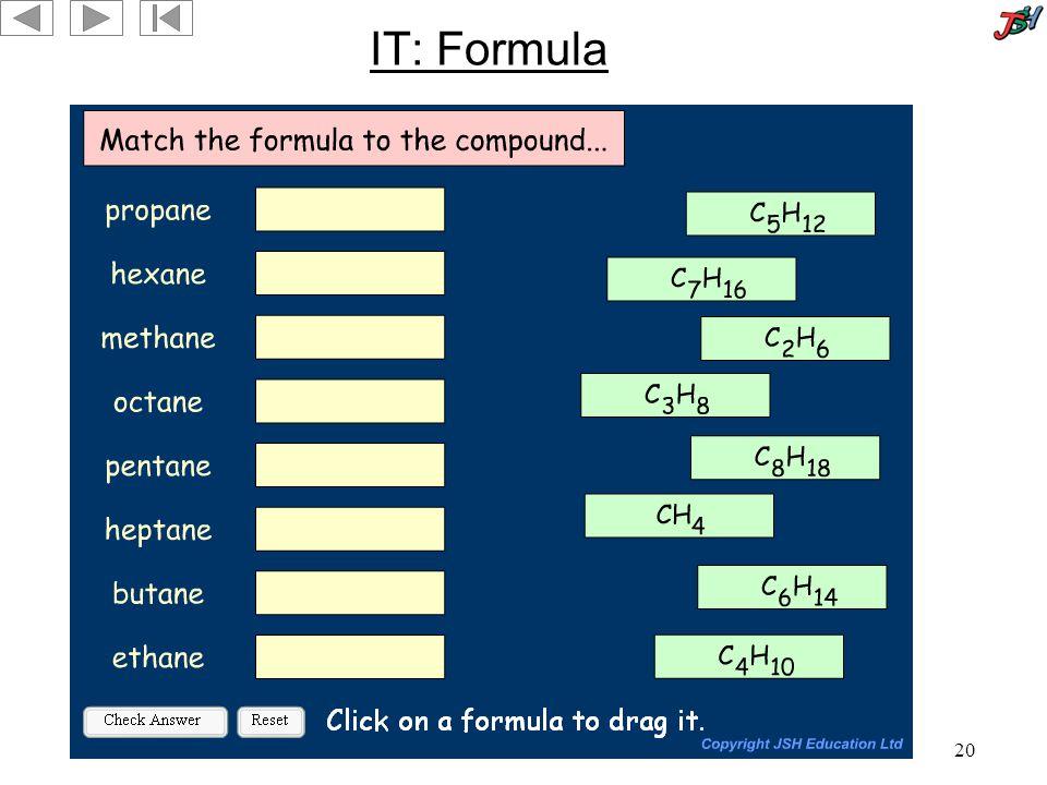 20 IT: Formula