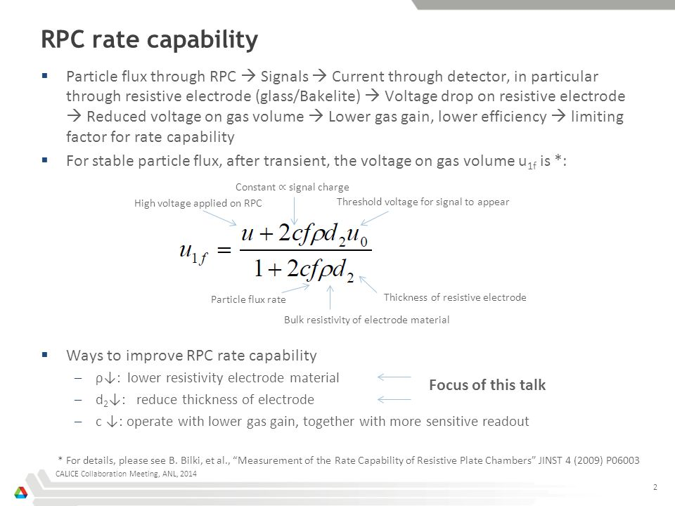 RPC rate capability 2  Particle flux through RPC  Signals  Current through detector, in particular through resistive electrode (glass/Bakelite)  V