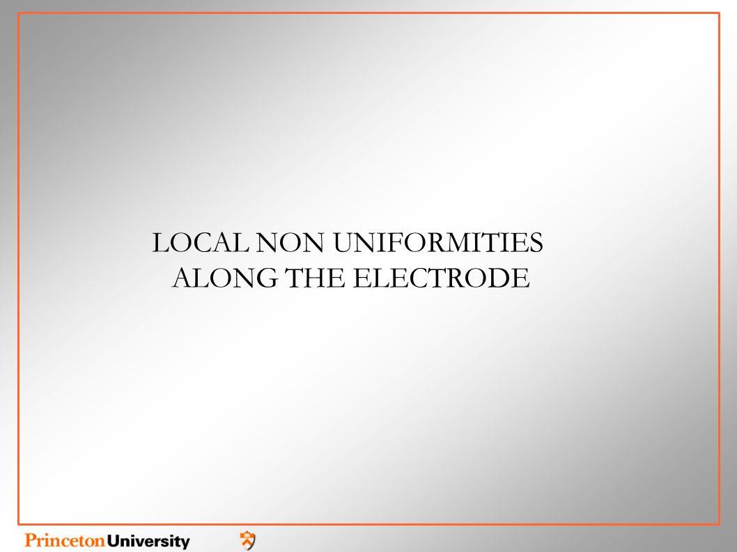 LOCAL NON UNIFORMITIES ALONG THE ELECTRODE
