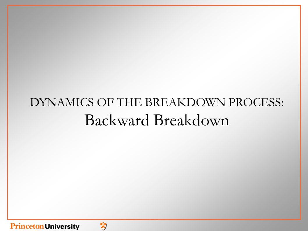 DYNAMICS OF THE BREAKDOWN PROCESS: Backward Breakdown