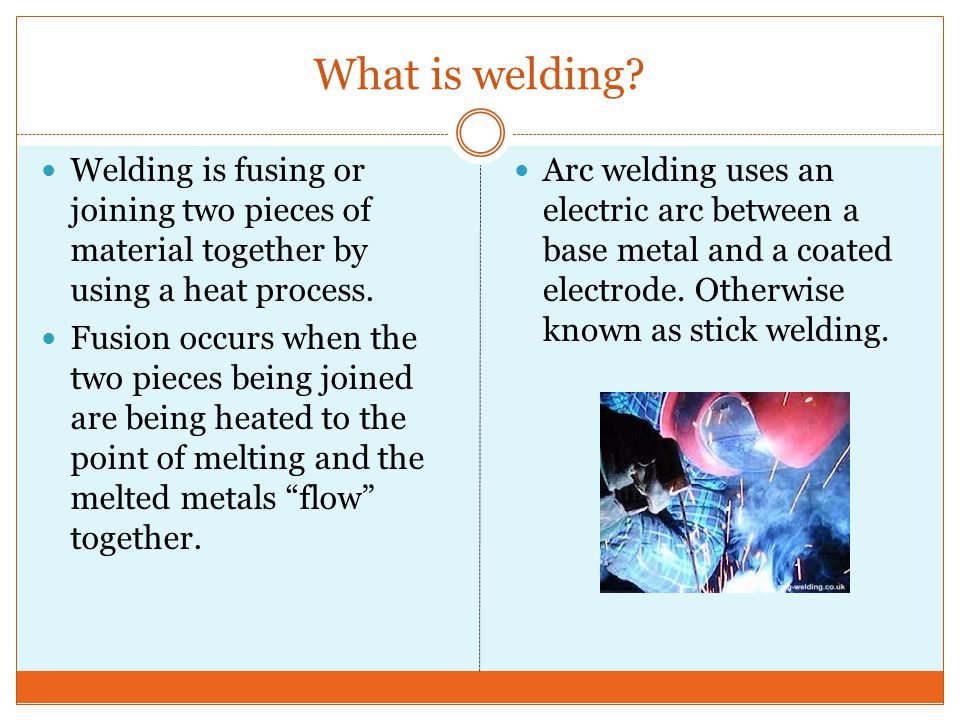 What is welding.