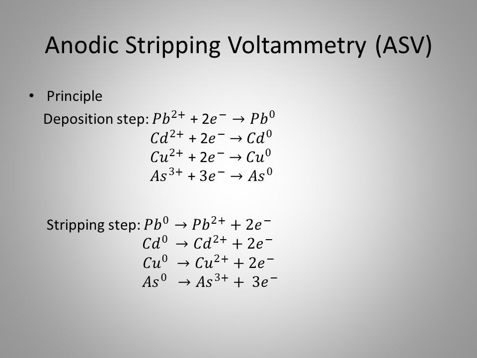 Anodic Stripping Voltammetry (ASV)