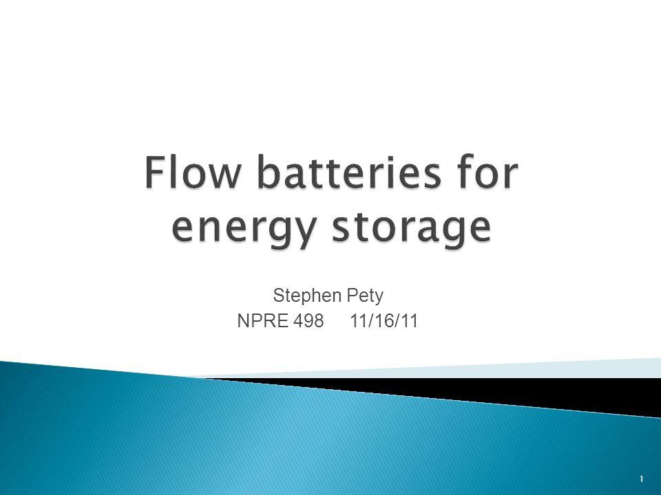Stephen Pety NPRE 498 11/16/11 1