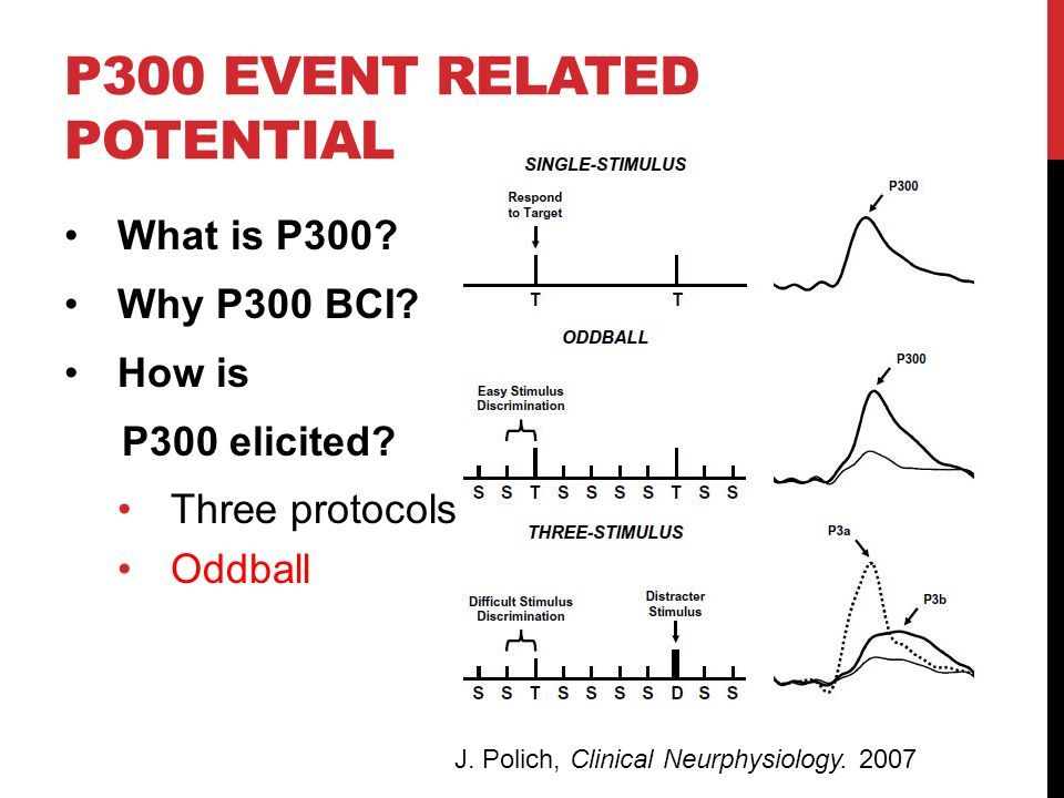 P300 EVENT RELATED POTENTIAL What is P300. Why P300 BCI.
