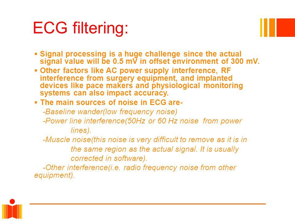 Preprocessing ECG signals:  Helps us remove contaminants from the ECG signals.
