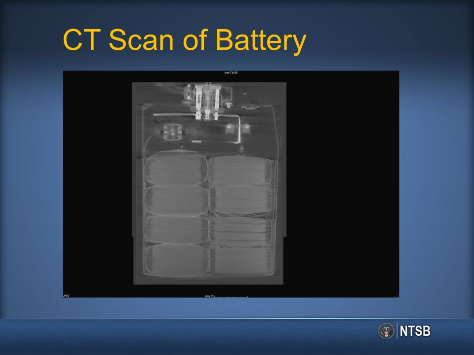 CT Scan of Battery