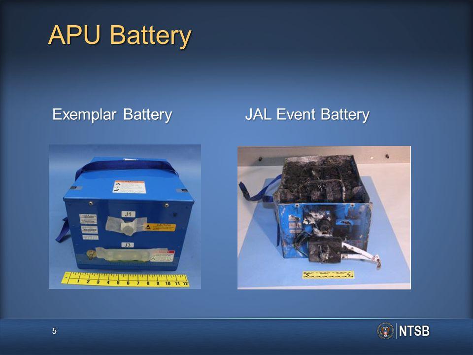 APU Battery Exemplar Battery JAL Event Battery 5