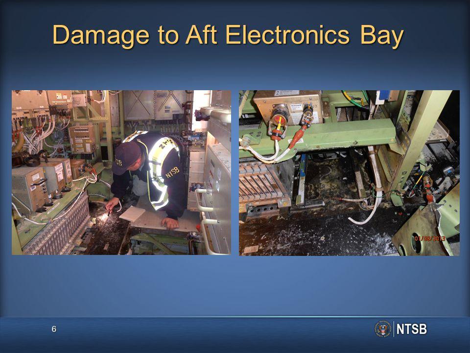 Damage to Aft Electronics Bay 6