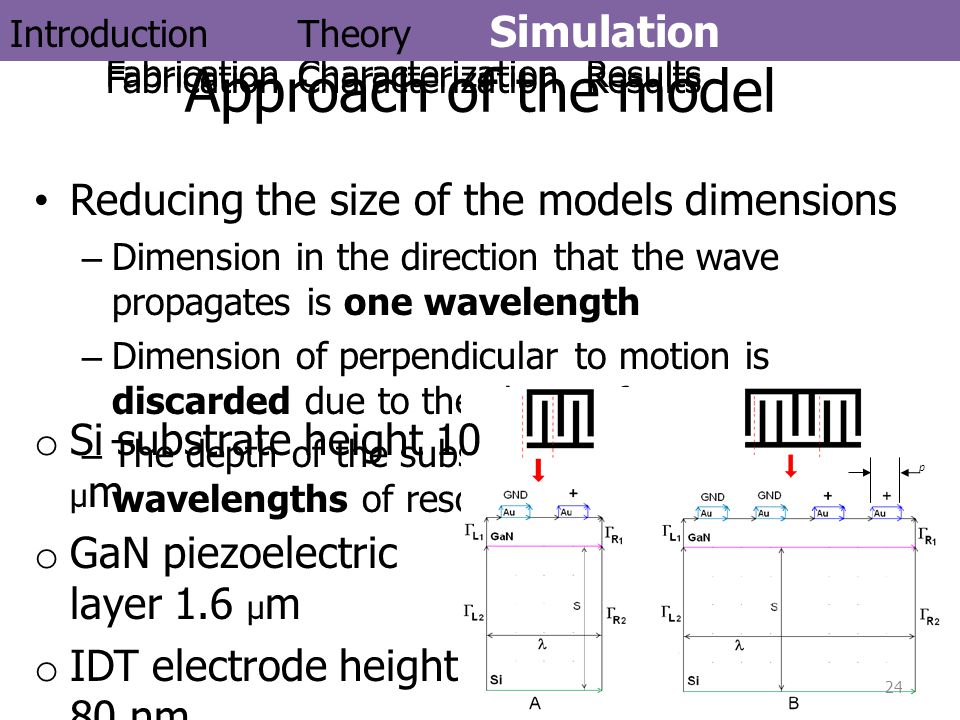 Reducing the size of the models dimensions –Dimension in the direction that the wave propagates is one wavelength –Dimension of perpendicular to motio