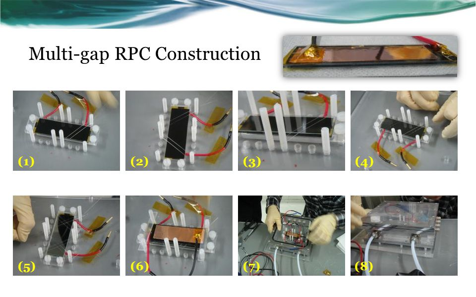 Multi-gap RPC Construction (1) (2)(3)(4) (5)(6)(7)(8)