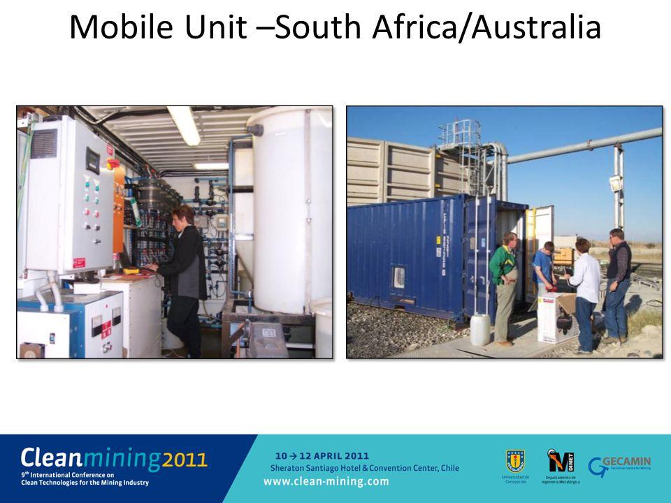Mobile Unit –South Africa/Australia