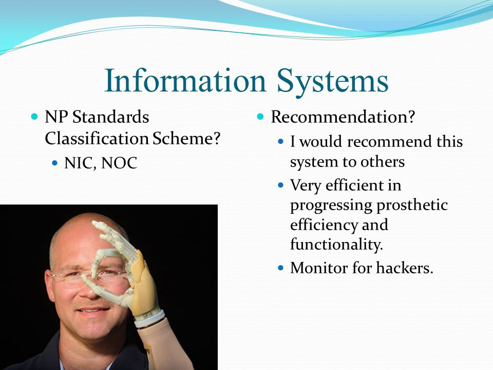 Information Systems NP Standards Classification Scheme.