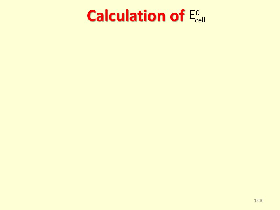 Calculation of 1836