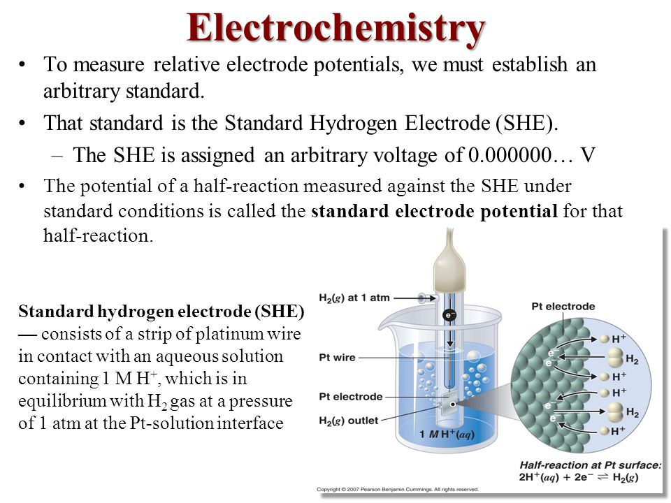 To measure relative electrode potentials, we must establish an arbitrary standard.