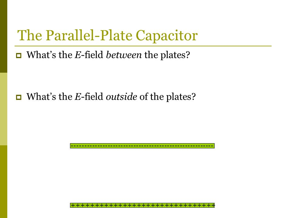  What's the E-field between the plates.  What's the E-field outside of the plates.