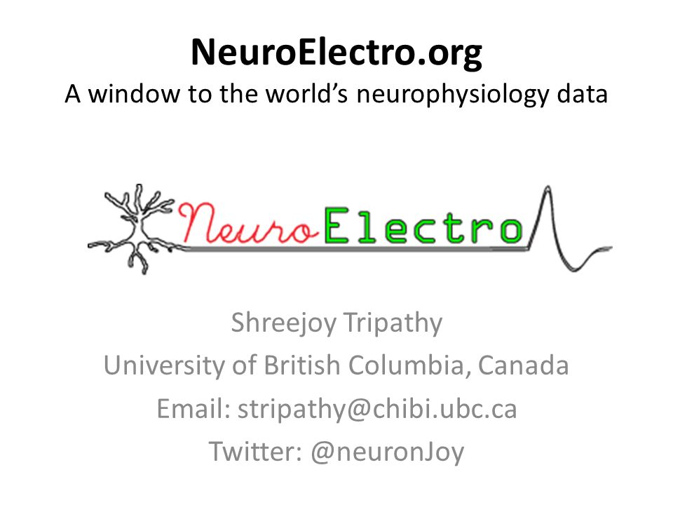 Main Idea Given that there is an extensive neuron electrophysiology literature, what can we learn by compiling it.