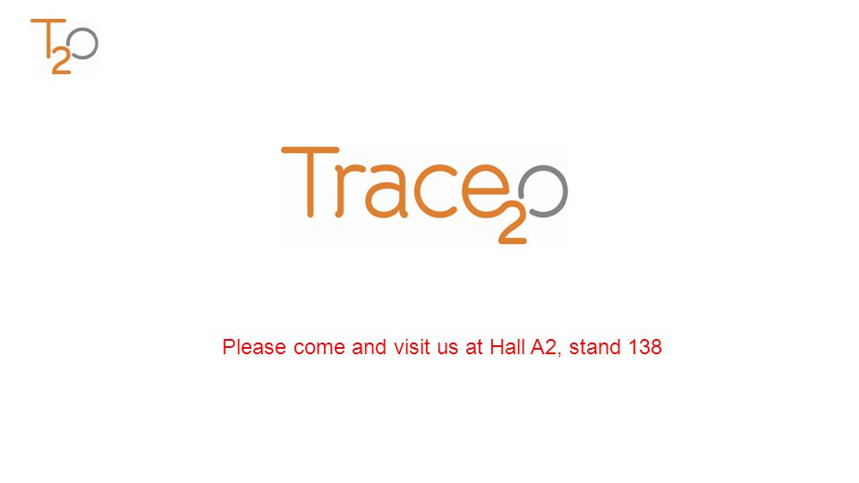 Please come and visit us at Hall A2, stand 138