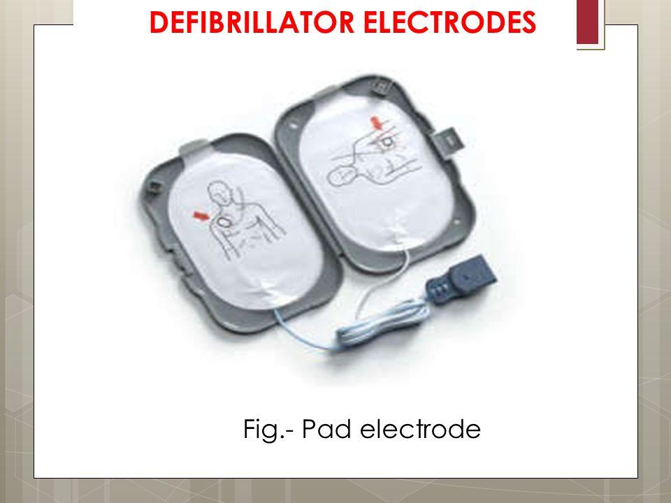Fig.- Pad electrode DEFIBRILLATOR ELECTRODES