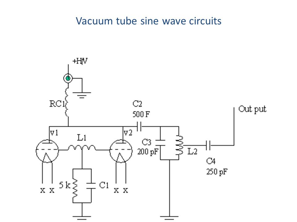 Vacuum tube sine wave circuits
