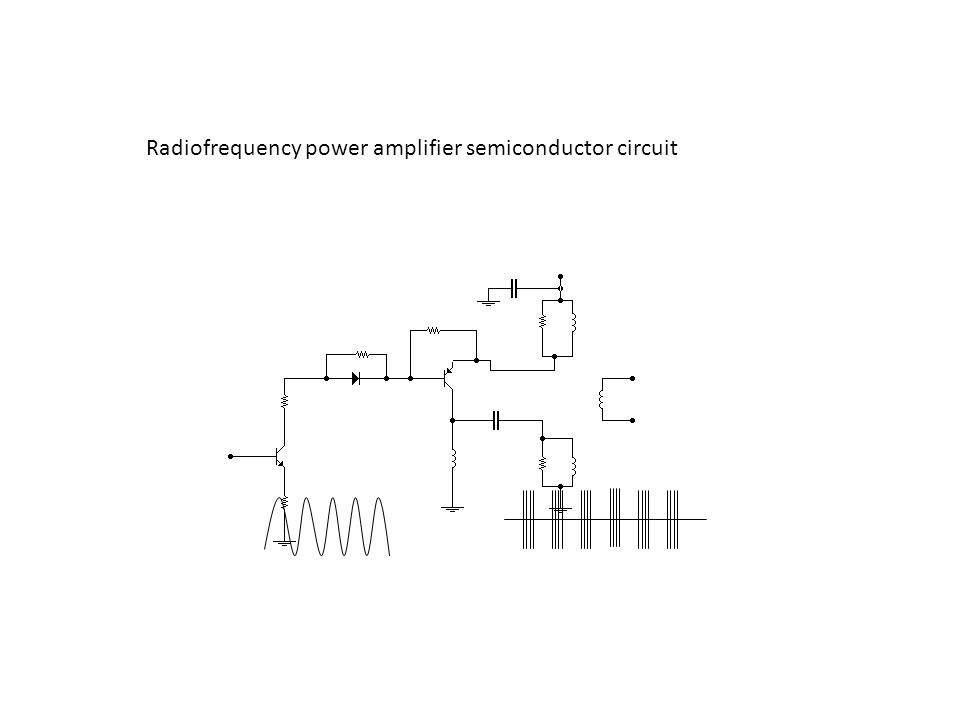 Radiofrequency power amplifier semiconductor circuit