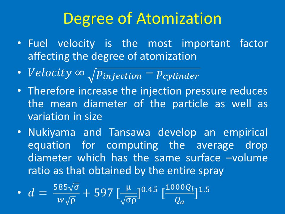Degree of Atomization