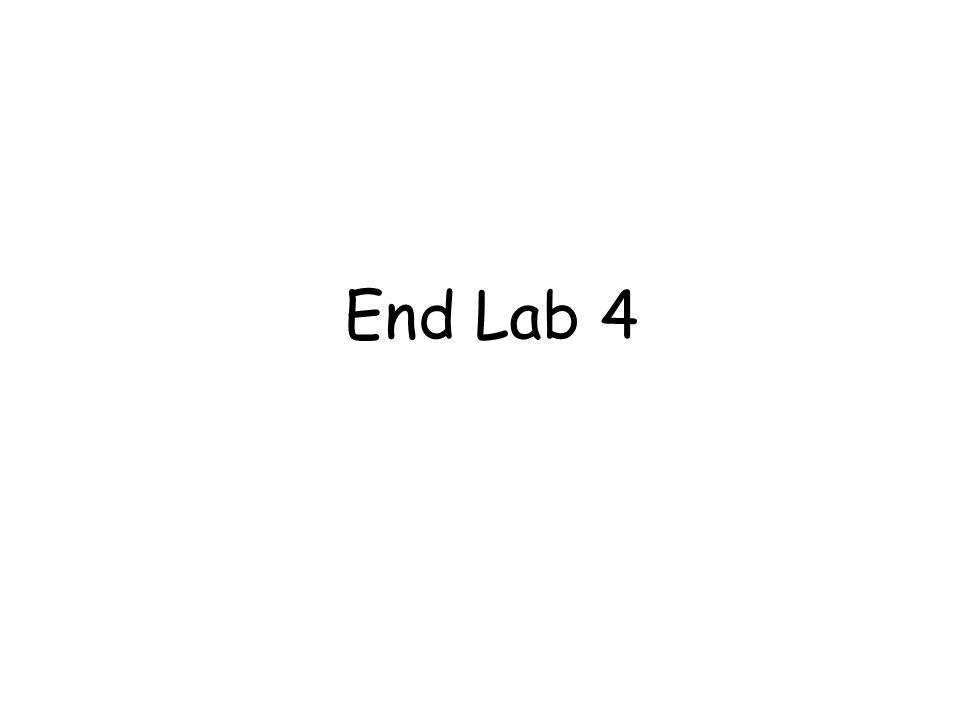 End Lab 4