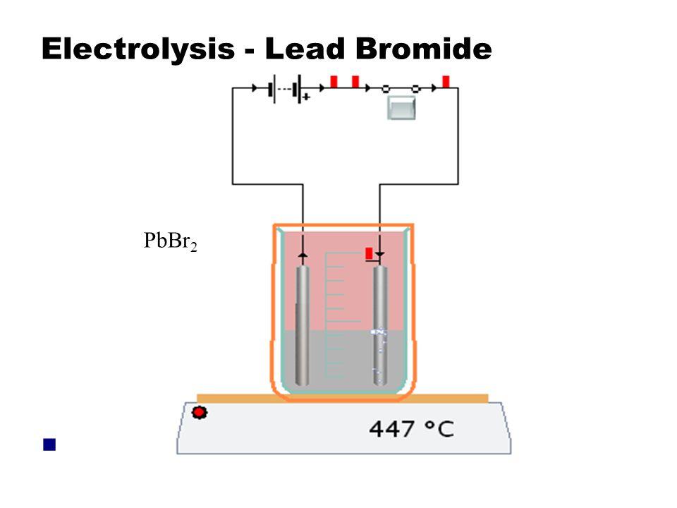 Electrolysis - Lead Bromide PbBr 2