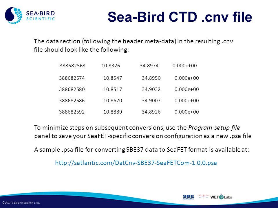 ©2014 Sea-Bird Scientific Inc.