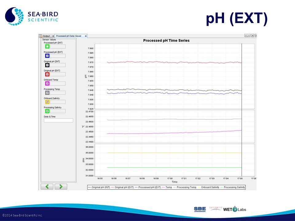 ©2014 Sea-Bird Scientific Inc. pH (EXT)