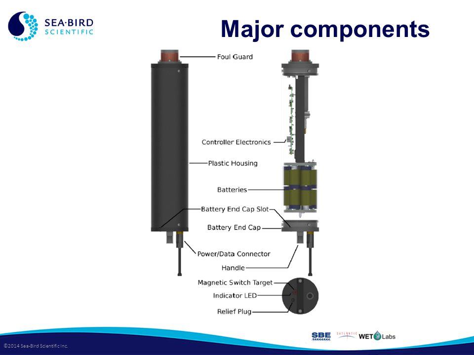 ©2014 Sea-Bird Scientific Inc. Major components