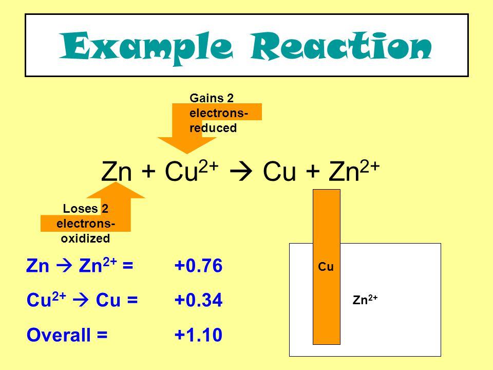 Pt Reaction: 2I - + 2Fe 3+  I 2 + 2Fe 2+ Electrons.