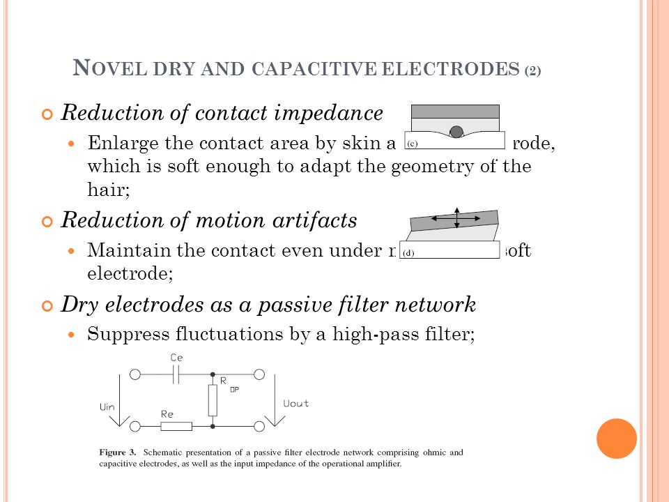 N OVEL DRY AND CAPACITIVE ELECTRODES (2) Reduction of contact impedance Enlarge the contact area by skin adaptive electrode, which is soft enough to a