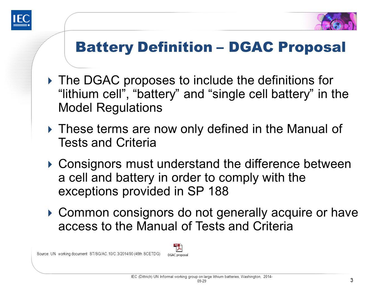 Battery Definition – UN vs.