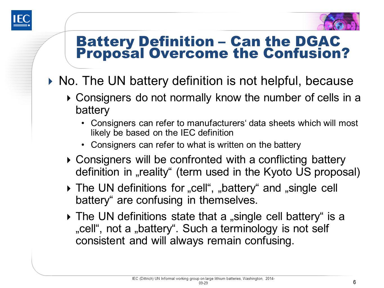 Battery Definition – UN Manual Rev.5, Amend.