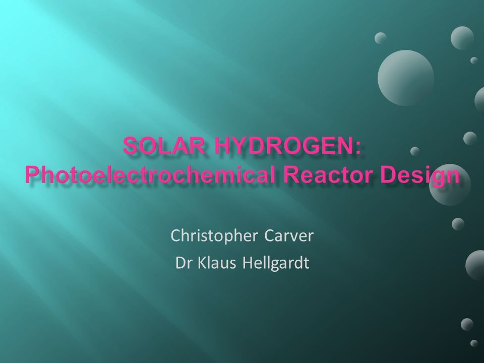 Christopher Carver Dr Klaus Hellgardt