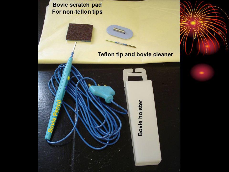 Teflon tip and bovie cleaner Bovie scratch pad For non-teflon tips Bovie holster Bovie Pencil