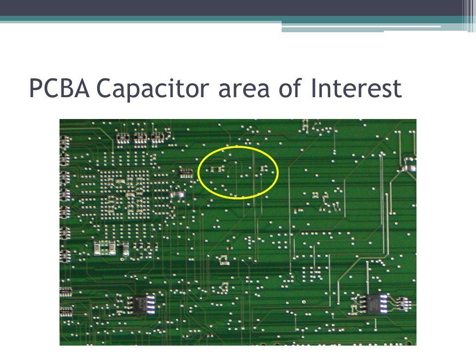 PCBA Capacitor area of Interest