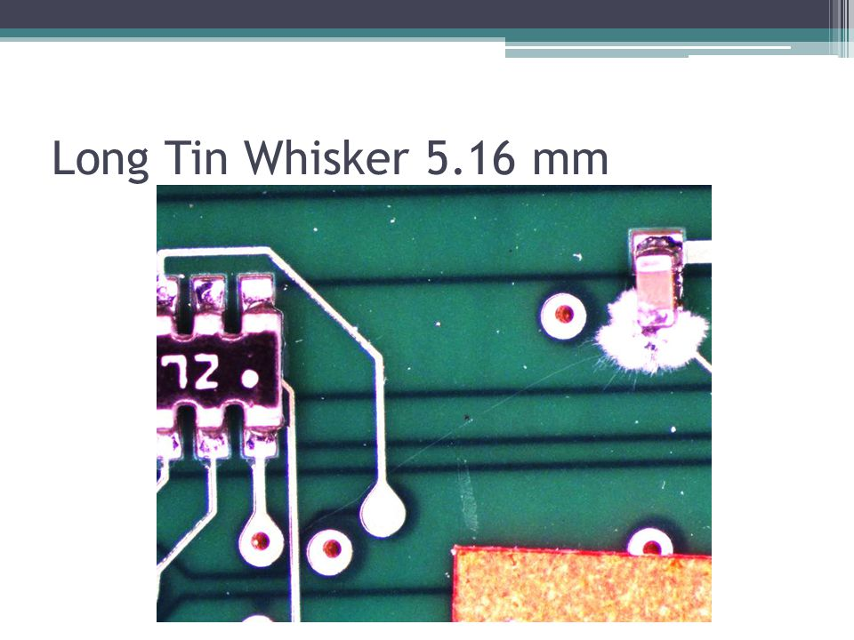 Tin completely used up to make the Tin Whiskers on the capacitor #1