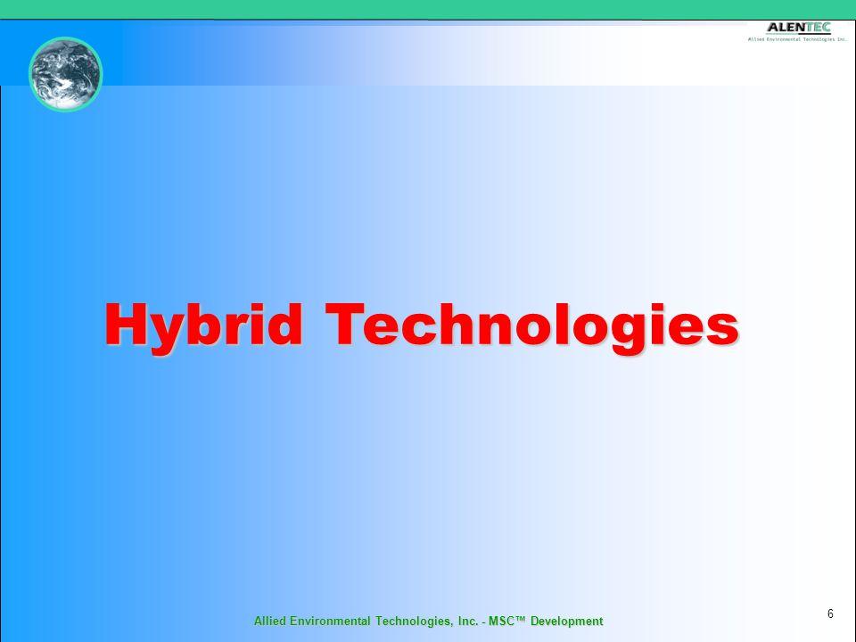 Allied Environmental Technologies, Inc. - MSC™ Development 6 Hybrid Technologies