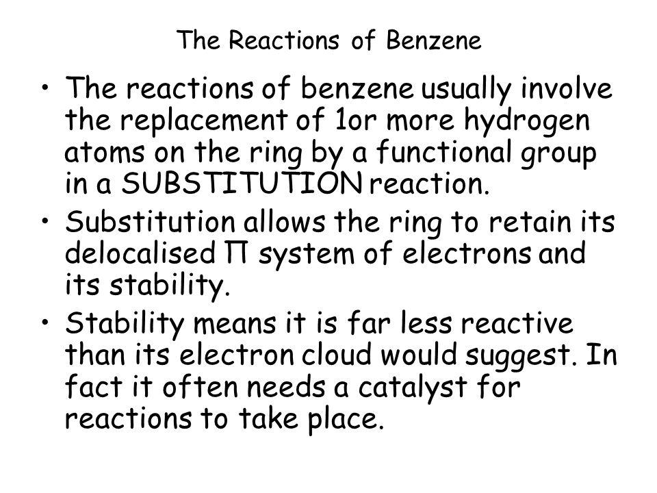 TY 2002 the hydrogen - carbon bond breaks the delocalised molecular orbital reforms